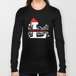 Christmas Monogram L Long Sleeve T-shirt