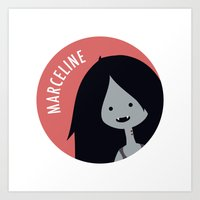 marceline Art Prints featuring Marceline by gaps81