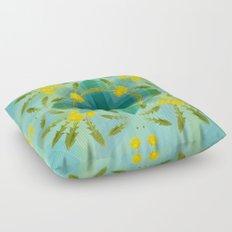 Dandelions in the sky Floor Pillow