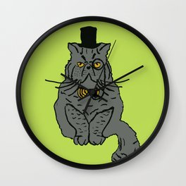 Walter the monocle wearing cat Wall Clock