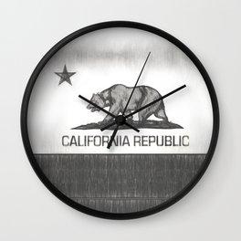 California Republic state flag Wall Clock