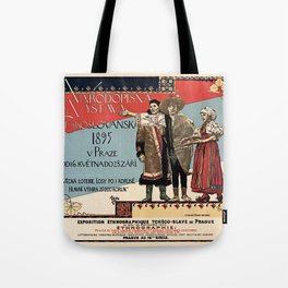 Czechoslav ethnographic exposition vintage ad Tote Bag