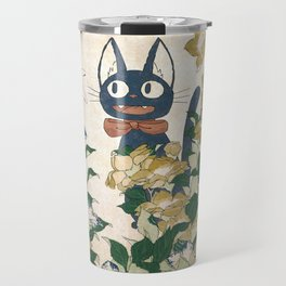 Jiji from Kiki's delivery service vintage japanese mashup Travel Mug