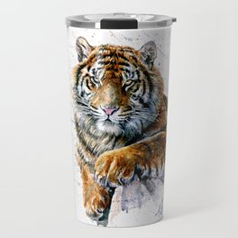 Tiger watercolor Travel Mug