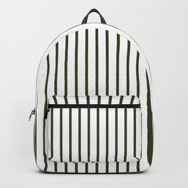 Garden Boot Grey Pinstripe on White Backpack