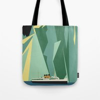 alaska Tote Bags featuring Alaska by Lost & Found