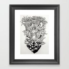 Wise Fun Guy Framed Art Print