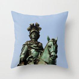 King Joseph I Equestrian Statue, Lisbon, Portugal Throw Pillow