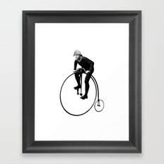 Keep Pushing Framed Art Print