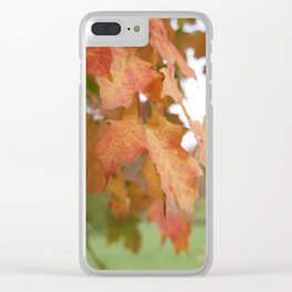 October Leaves Clear iPhone Case