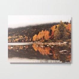 Reflections on Jordan Pond in Acadia Metal Print