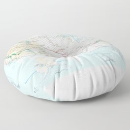 National Parks Trail Map Floor Pillow