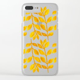 Victory Leaves Clear iPhone Case