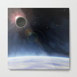 Outer Atmosphere of The Planet Earth Metal Print