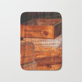Wine crates Bath Mat