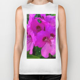 Purple flowers Biker Tank