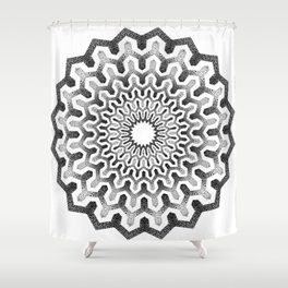 Geometric mandala pattern Shower Curtain