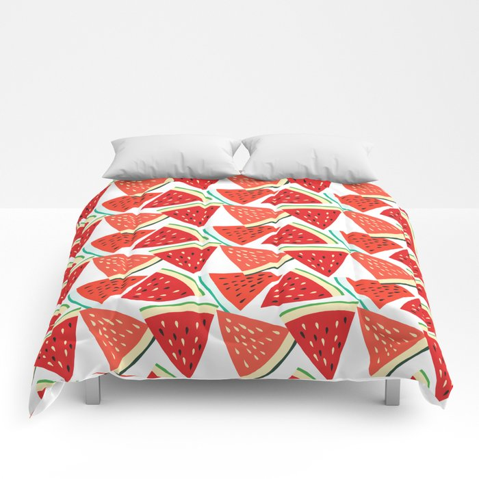 Sliced Watermelon Comforters