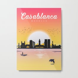 Casablanca Skyline Metal Print