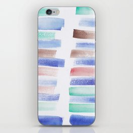 26 | 181101 Watercolour Palette Abstract Art | Lines | Stripes | iPhone Skin