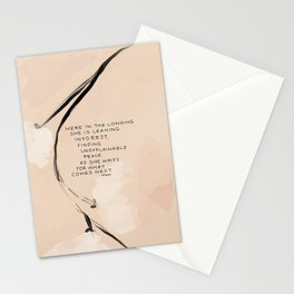Here In The Longing She Is Leaning Into Rest, Finding Unexplainable Peace As She Waits For What Comes Next. Stationery Cards
