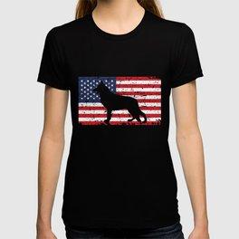 German Shepherd USA Flag Sheepdog Patriotic design Gift T-shirt