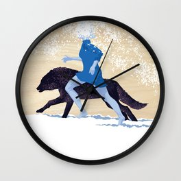 Running with the Wolves Wall Clock
