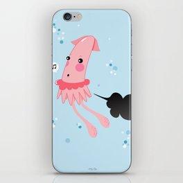 Aquatic Leaks. Squid Troubles iPhone Skin