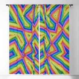 Crooked Rainbow Blackout Curtain