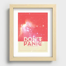 DON'T PANIC Recessed Framed Print