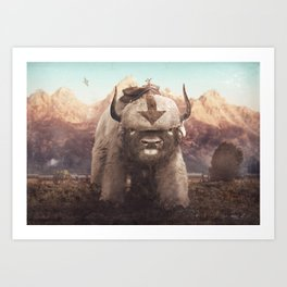 Appa in the Mountains Art Print