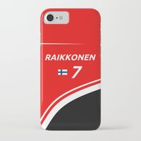 f1 iPhone & iPod Cases featuring F1 2015 - #7 Raikkonen by MS80 Design
