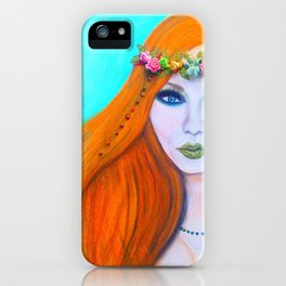 Redhead Poison Ivy Goddess iPhone Case