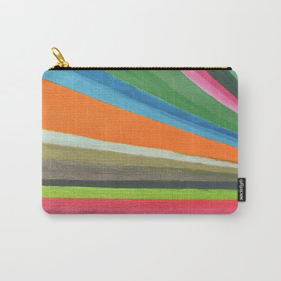 Transforming Vertical Stripes Carry-All Pouch