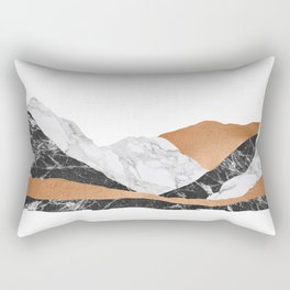 Marble Landscape I, Minimal Art Rectangular Pillow