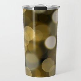 Abstract black gold color modern unfocused lights Travel Mug