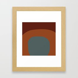 Miracle Rock in Red Blue _Block Colour Framed Art Print
