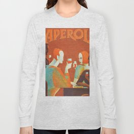 Aperol 'Salute!' Wine and Wine Alcohol Aperitif Vintage Advertisement Poster Long Sleeve T-shirt