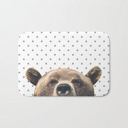 Bear - Gray Dots Bath Mat