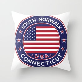 South Norwalk, Connecticut Throw Pillow