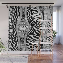 Line Tangle - Zentangle Wall Mural