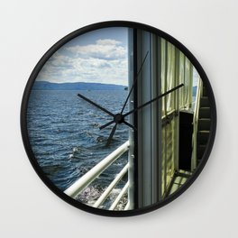Burlington, Vermont Boat Ride.  Wall Clock
