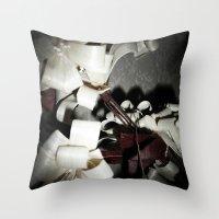 valentine Throw Pillows featuring Valentine by Françoise Reina
