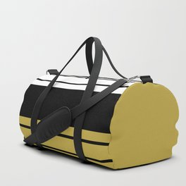 Team Colors 8...Gold ,black and white Duffle Bag