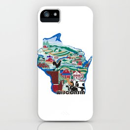 Wisconsin Country Sampler iPhone Case