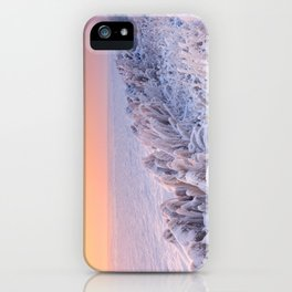 Sunrise over a frozen lake in The Netherlands iPhone Case
