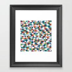 Triangles #1 Framed Art Print
