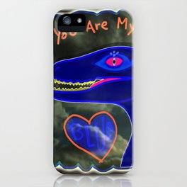 You Are My Blue Dinosaur iPhone Case