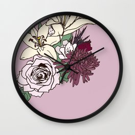 Flowers From The Universe Wall Clock