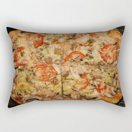 Preparation of home-made Italian pizza in the oven Rectangular Pillow
